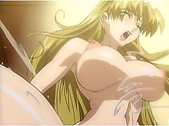 Anzu gets toyed with like a dog and soaked with cum