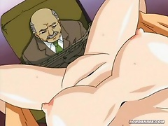 Integra got filled by Toji and got her amazing body drenched