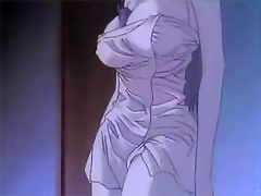 Reiko strokes Gendo Ikari's cock and got soaked with cum
