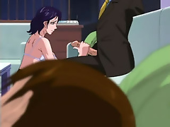 Slutty Mischa grab Hentai master after got screwed in hole